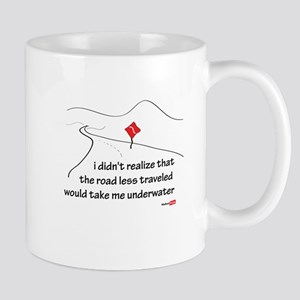 The road less traveled Large Mugs