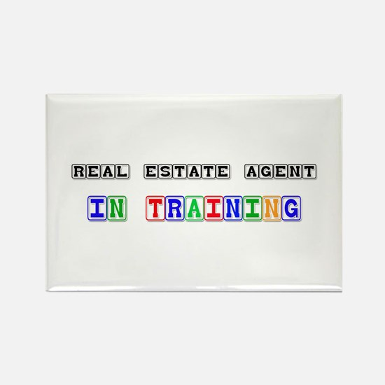 Real Estate Agent In Training Rectangle Magnet