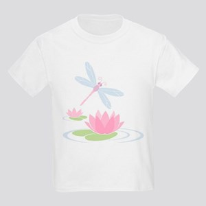 Dragonfly and Lilly Pads Kids Light T-Shirt
