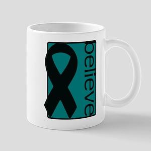 Teal (Believe) Ribbon Mug