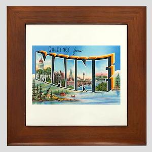 Maine ME Framed Tile