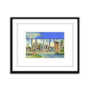 Maryland MD Framed Panel Print