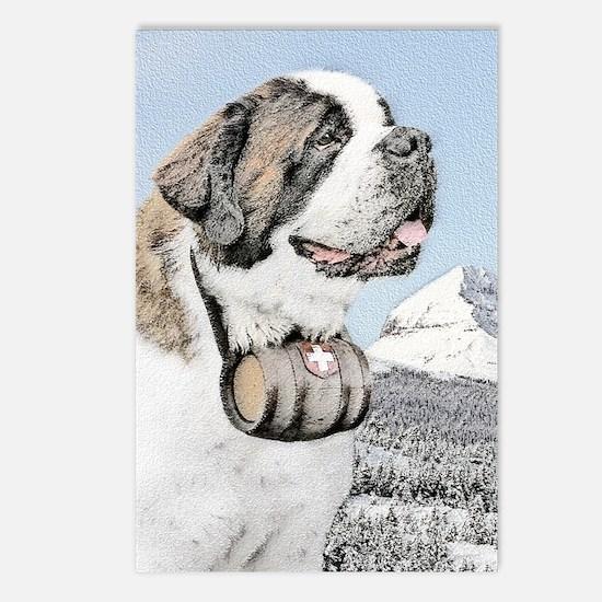 Saint Bernard Postcards (Package of 8)