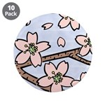 "Alishan flowers 3.5"" Button (10 pack)"
