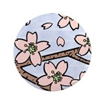 "Alishan flowers 3.5"" Button"