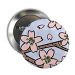 "Alishan flowers 2.25"" Button"