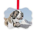 Saint Bernard Picture Ornament