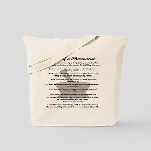 Pharmacist's Oath Tote Bag