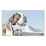 Saint Bernard Sticker (Rectangle 50 pk)