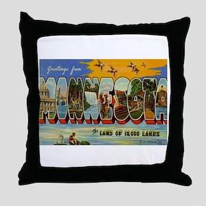 Minnesota MN Throw Pillow