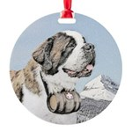 Saint Bernard Round Ornament