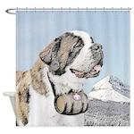 Saint Bernard Shower Curtain