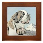 Saint Bernard Framed Tile