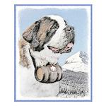 Saint Bernard Small Poster