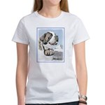 Saint Bernard Women's Classic White T-Shirt