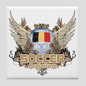 Soccer Belgium Tile Coaster