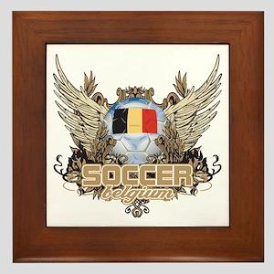 Soccer Belgium Framed Tile