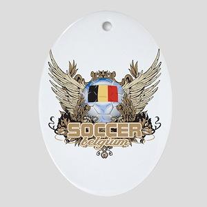 Soccer Belgium Oval Ornament