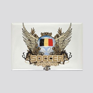 Soccer Belgium Rectangle Magnet