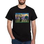 St Francis & 2 Tri Aussies Dark T-Shirt