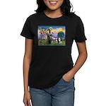 St Francis & 2 Tri Aussies Women's Dark T-Shirt