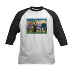 St Francis & 2 Tri Aussies Kids Baseball Jersey