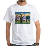 St Francis & 2 Tri Aussies White T-Shirt