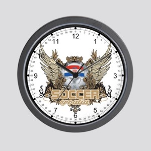 Soccer Croatia Wall Clock