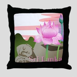 Sri Lanka Throw Pillow