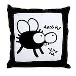Amos Fly Throw Pillow