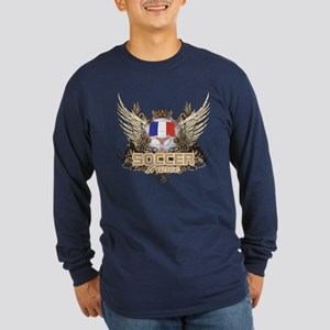 Soccer France Long Sleeve Dark T-Shirt