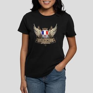 Soccer France Women's Dark T-Shirt