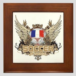 Soccer France Framed Tile