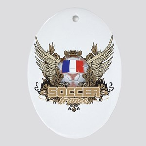 Soccer France Oval Ornament
