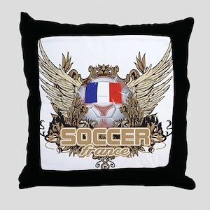 Soccer France Throw Pillow