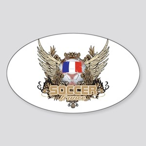 Soccer France Oval Sticker