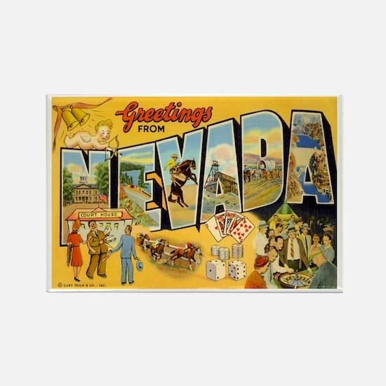 Nevada NV Rectangle Magnet