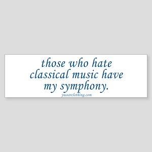 Symphony Bumper Sticker