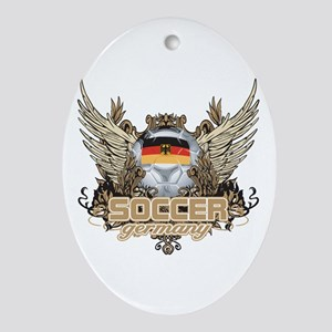 Soccer Germany Oval Ornament