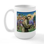 St Francis/ Aus Shep Large Mug