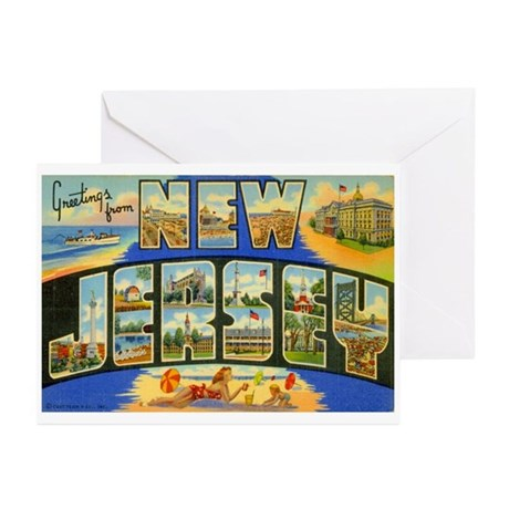 New Jersey NJ Greeting Cards (Pk of 10)
