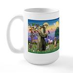 St Francis/Aussie (#5) Large Mug