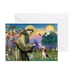 St. Francis & Beagle Greeting Card