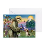 St. Francis & Beagle Greeting Cards (Pk of 20)