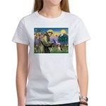 St. Francis & Beagle Women's T-Shirt