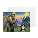 St. Francis & Beardie Greeting Card