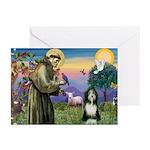 St. Francis & Beardie Greeting Cards (Pk of 20)