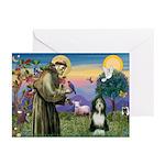 St. Francis & Beardie Greeting Cards (Pk of 10)