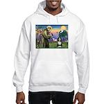 St. Francis & Beardie Hooded Sweatshirt