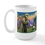 St. Francis & Beardie Large Mug